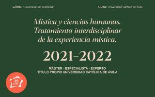 Máster en Mística y Ciencias Humanas 2021-2022